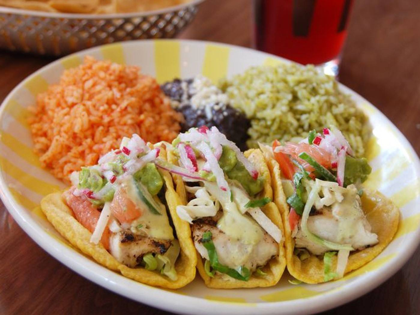 Grilled fish tacos from Border Grill at Tom Bradley International in LAX
