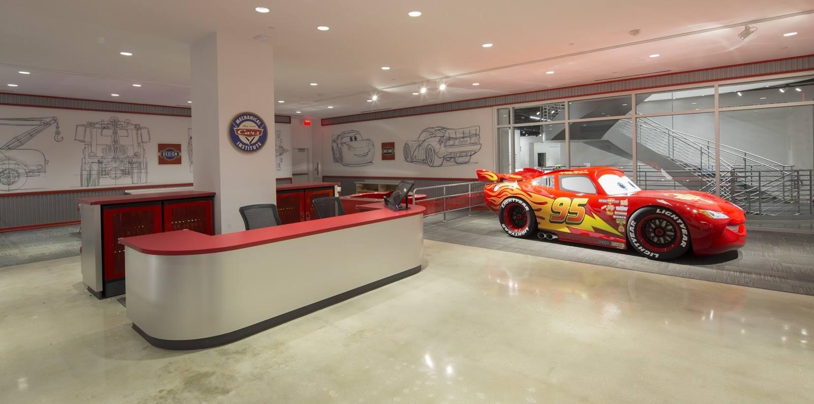 Disney/Pixar Cars Mechanical Institute at the Petersen Automotive Museum