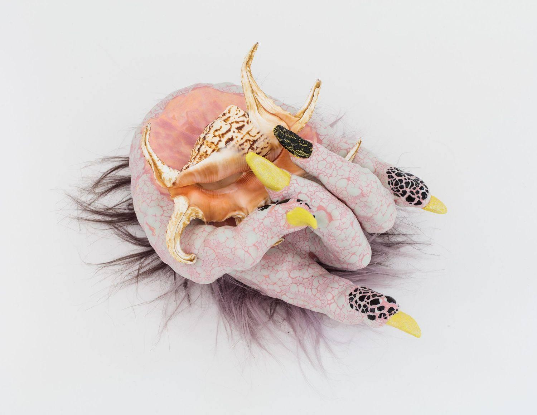 """Metal Goddess"" sculpture by Roxanne Jackson at Craft Contemporary"
