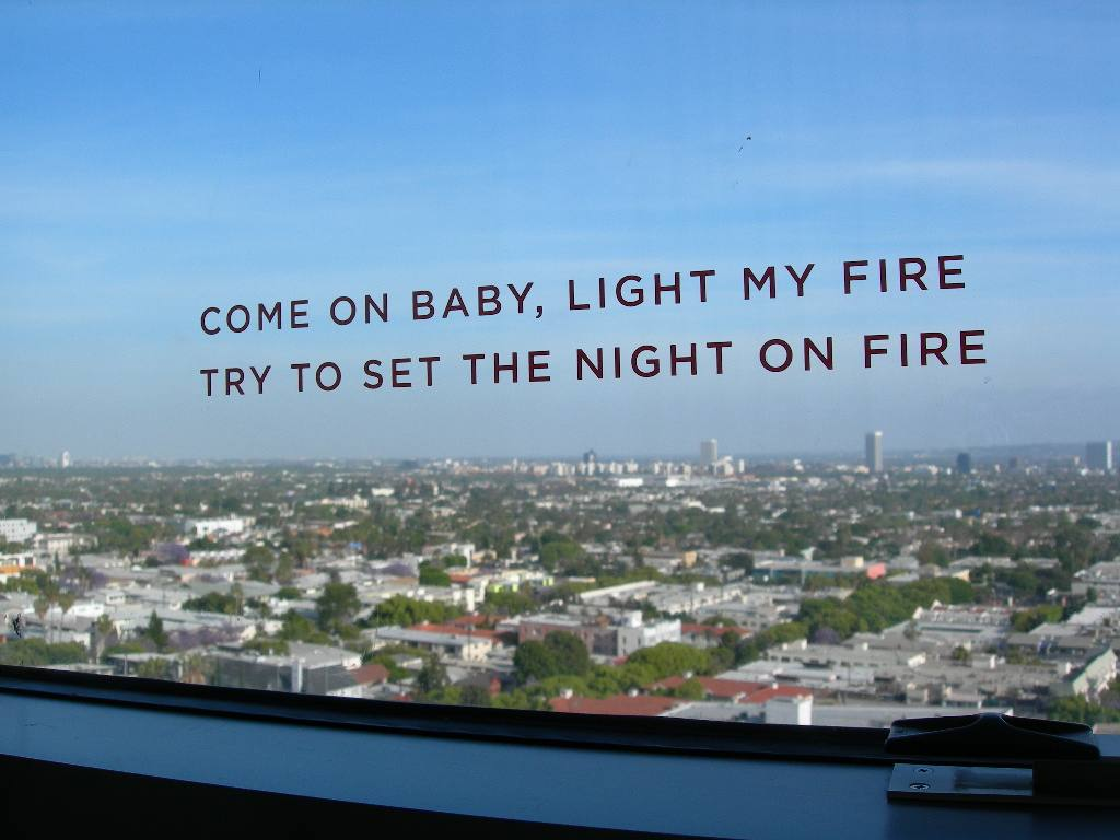 The Doors song lyrics at the Andaz West Hollywood