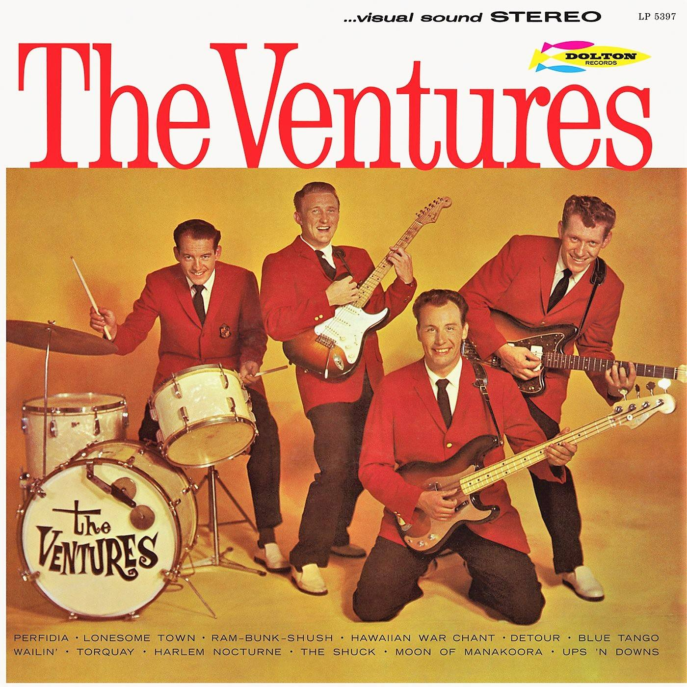 "Cover of The Ventures second album ""The Ventures"" (1961)"