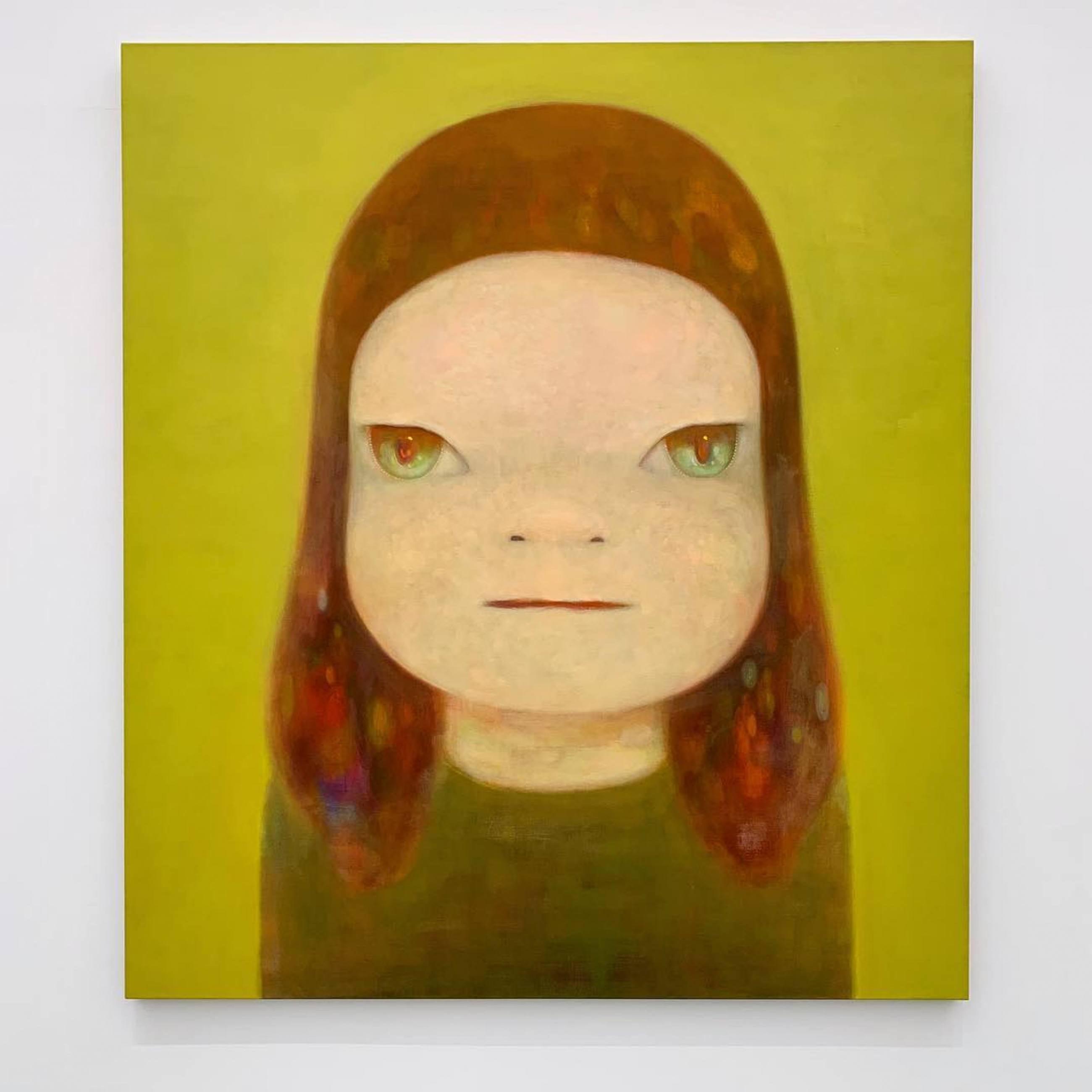 Portrait painting by Yoshitomo Nara on display at N's YARD in Japan