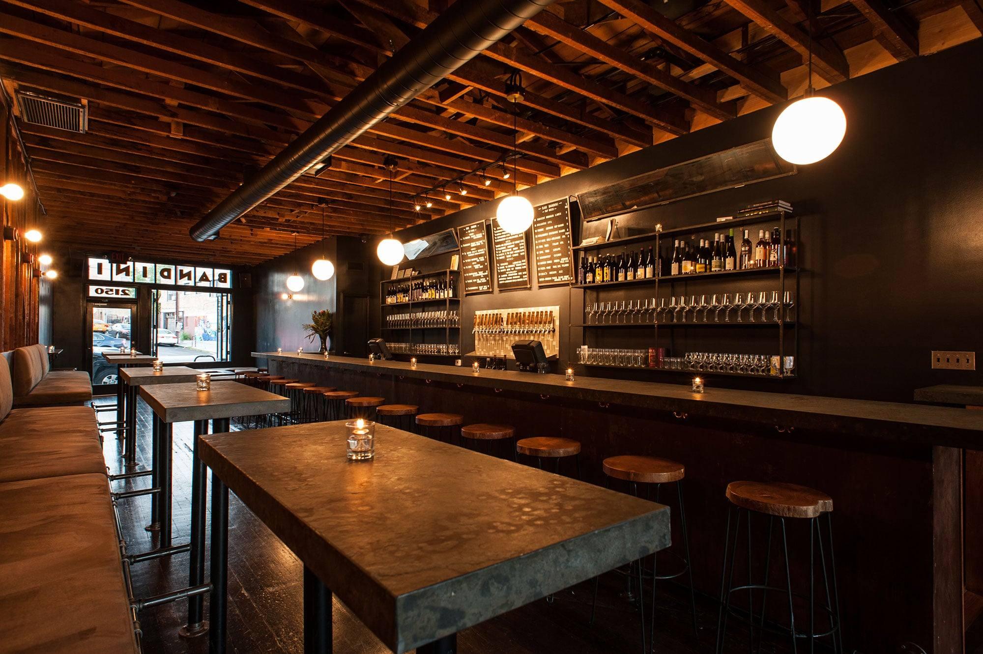 Interior of Bar Bandini in Echo Park