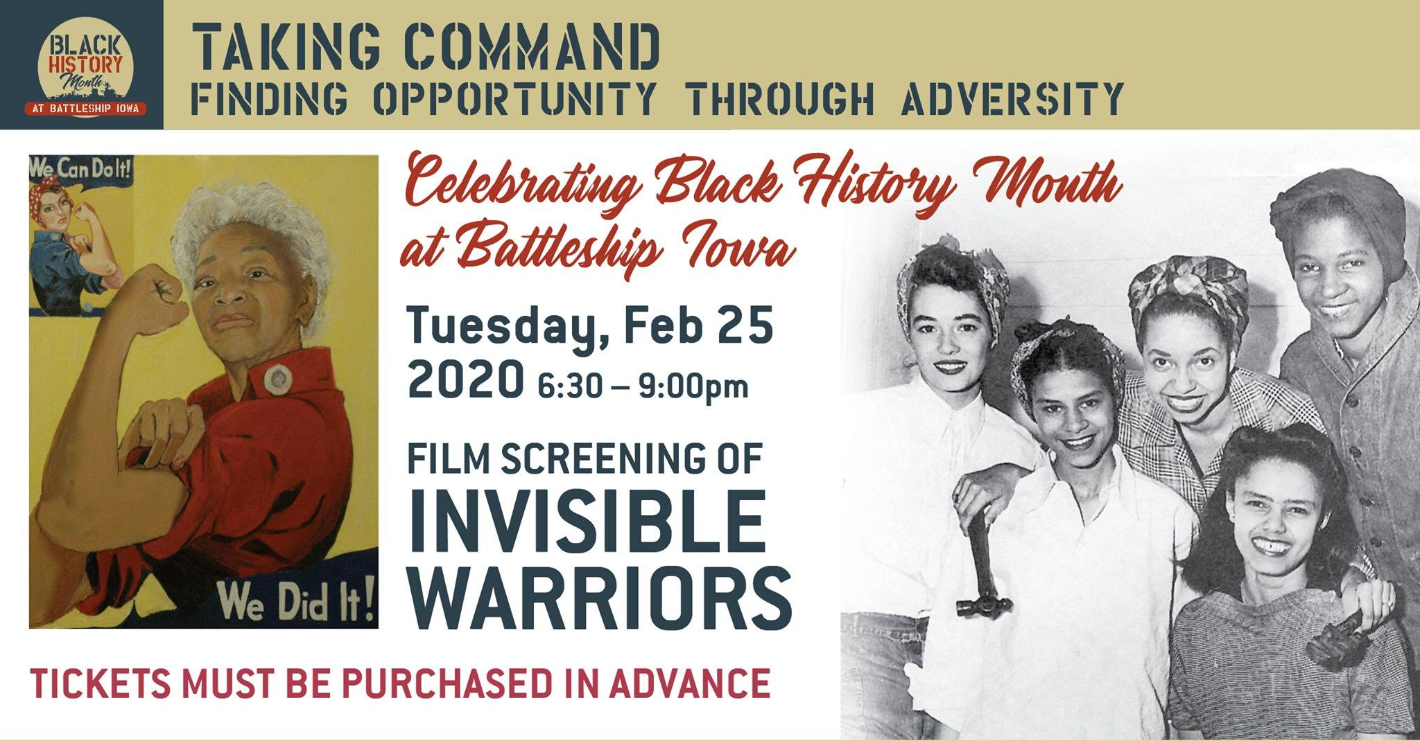 "Black History Month screening of ""Invisible Warriors"" at Battleship IOWA in San Pedro"