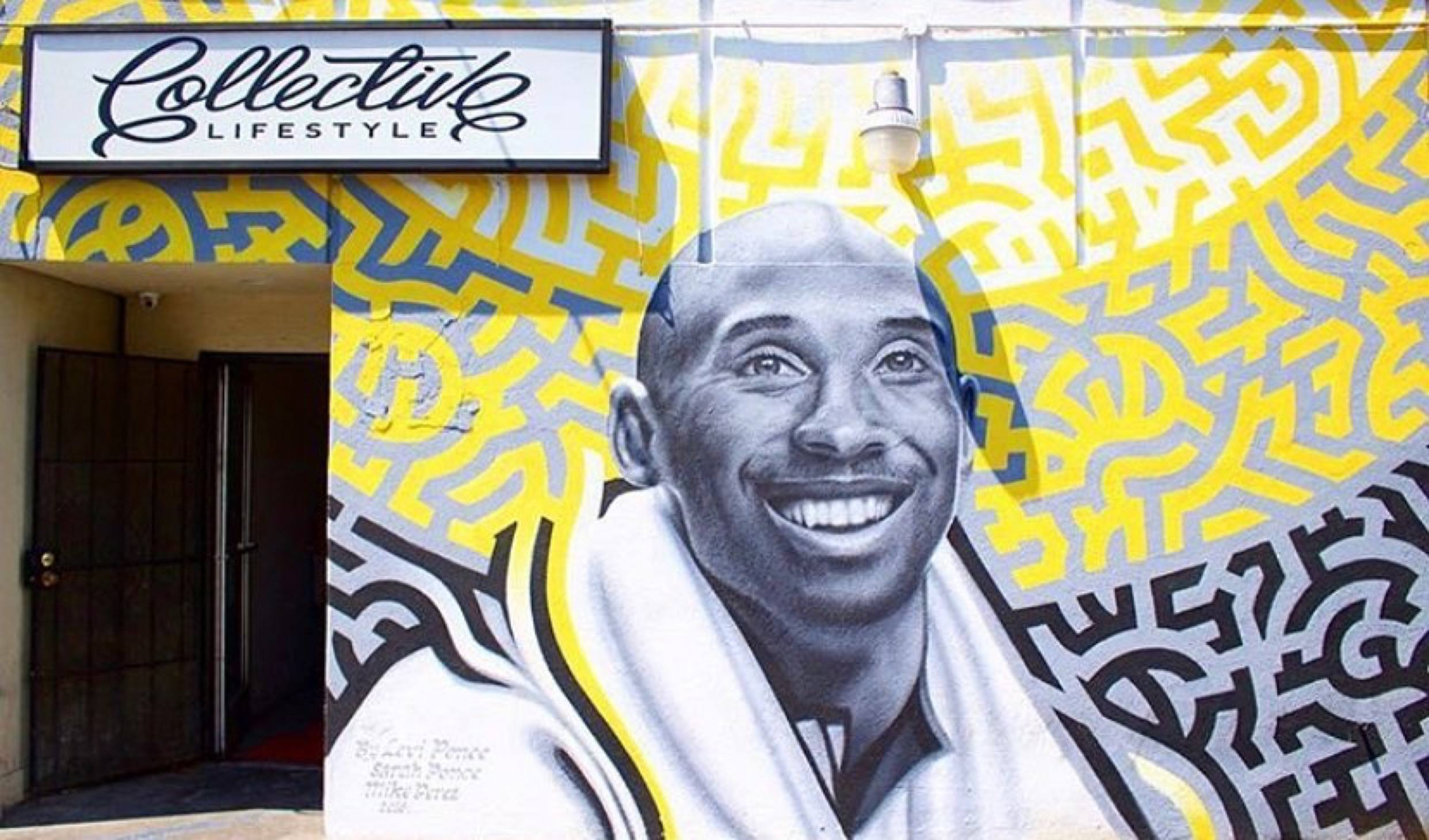 Kobe Bryant mural by Levi Ponce at Collective Lifestyle in Northridge