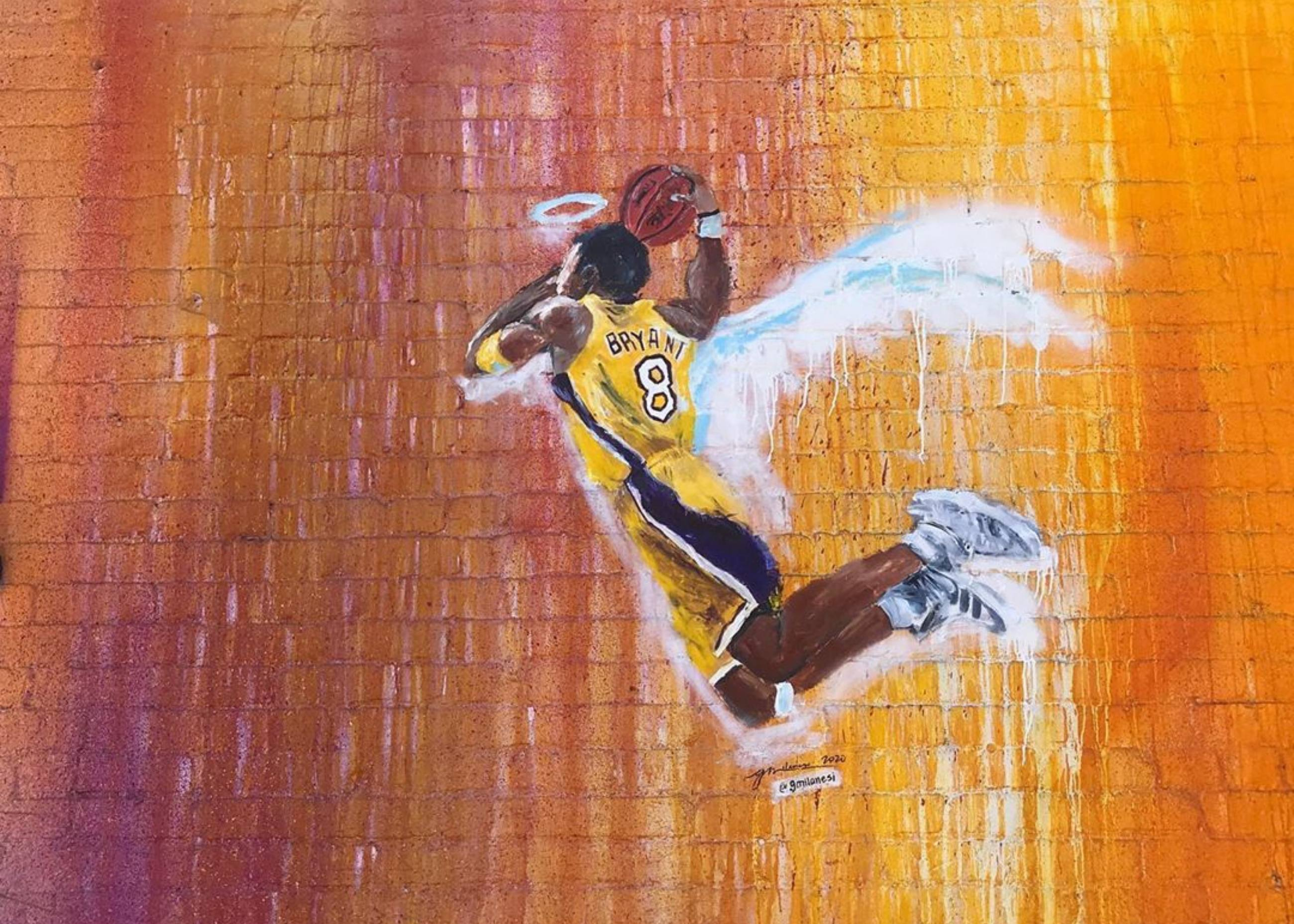Kobe Bryant mural by Gena Milanesi at In Sheep's Clothing