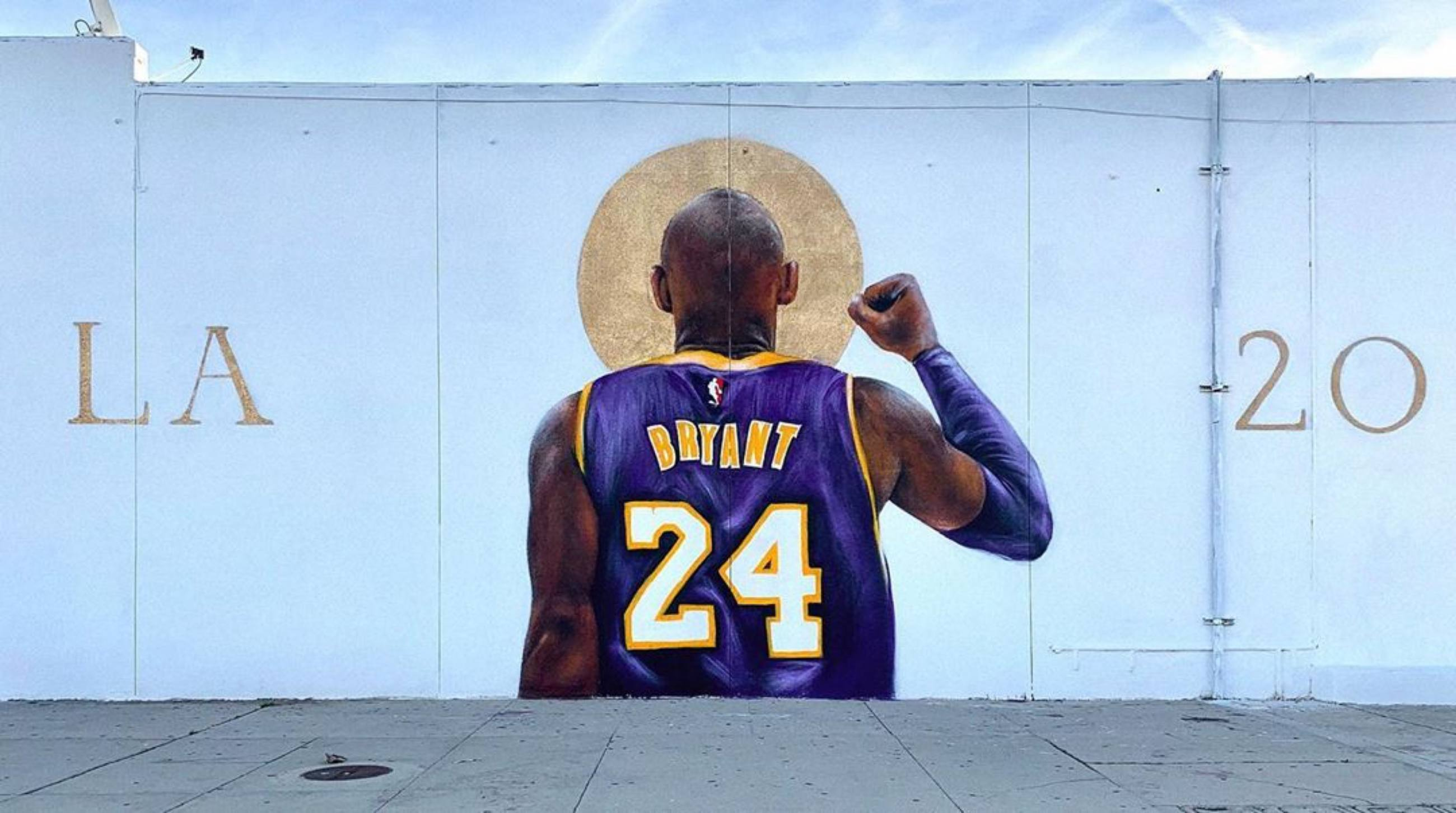 """Saint Kobe"" by Isaac Pelayo at Nelson's Liquor in Burbank"