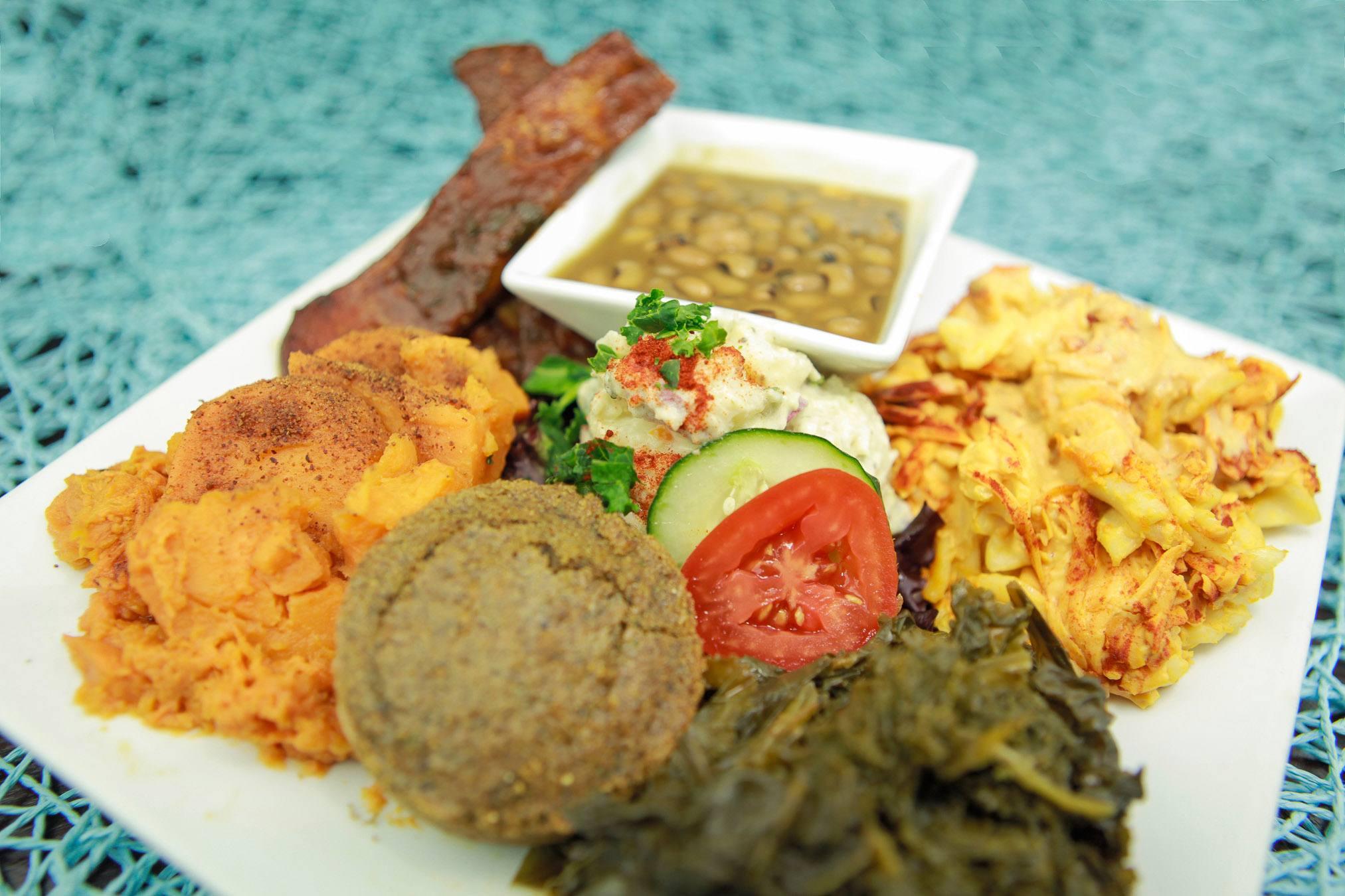 Organic Soul Food Platter at Stuff I Eat in Inglewood
