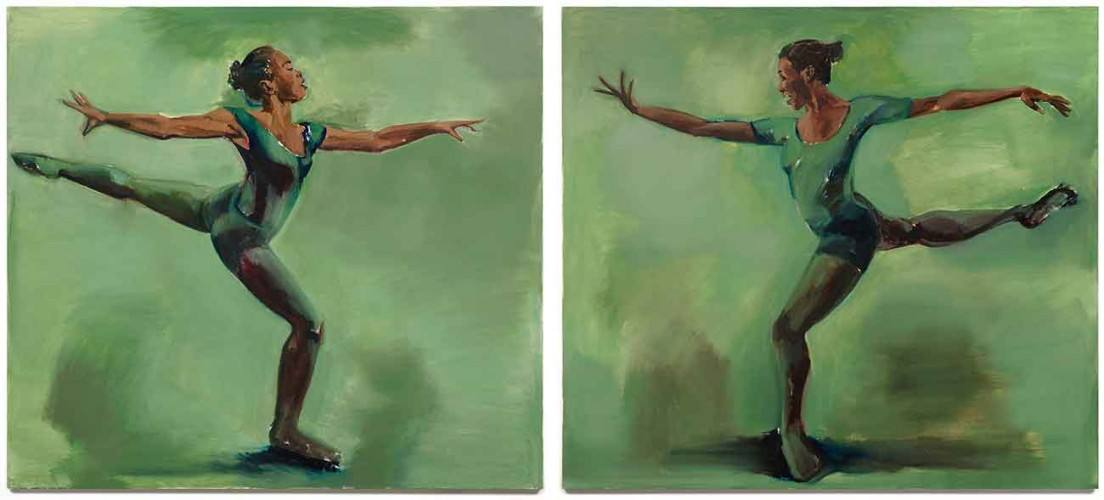"""Harp-Strum"" by Lynette Yiadom-Boakye on view at The Huntington Library"