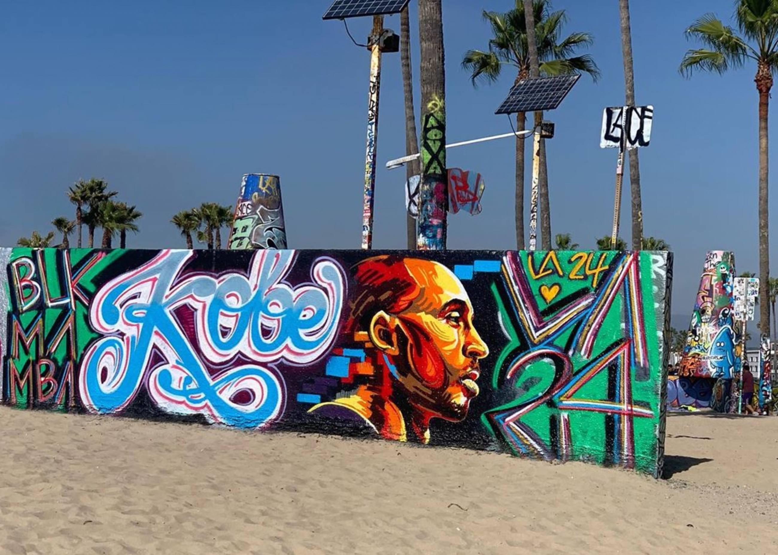 Kobe Bryant mural by Nerja Malaga in Venice Beach