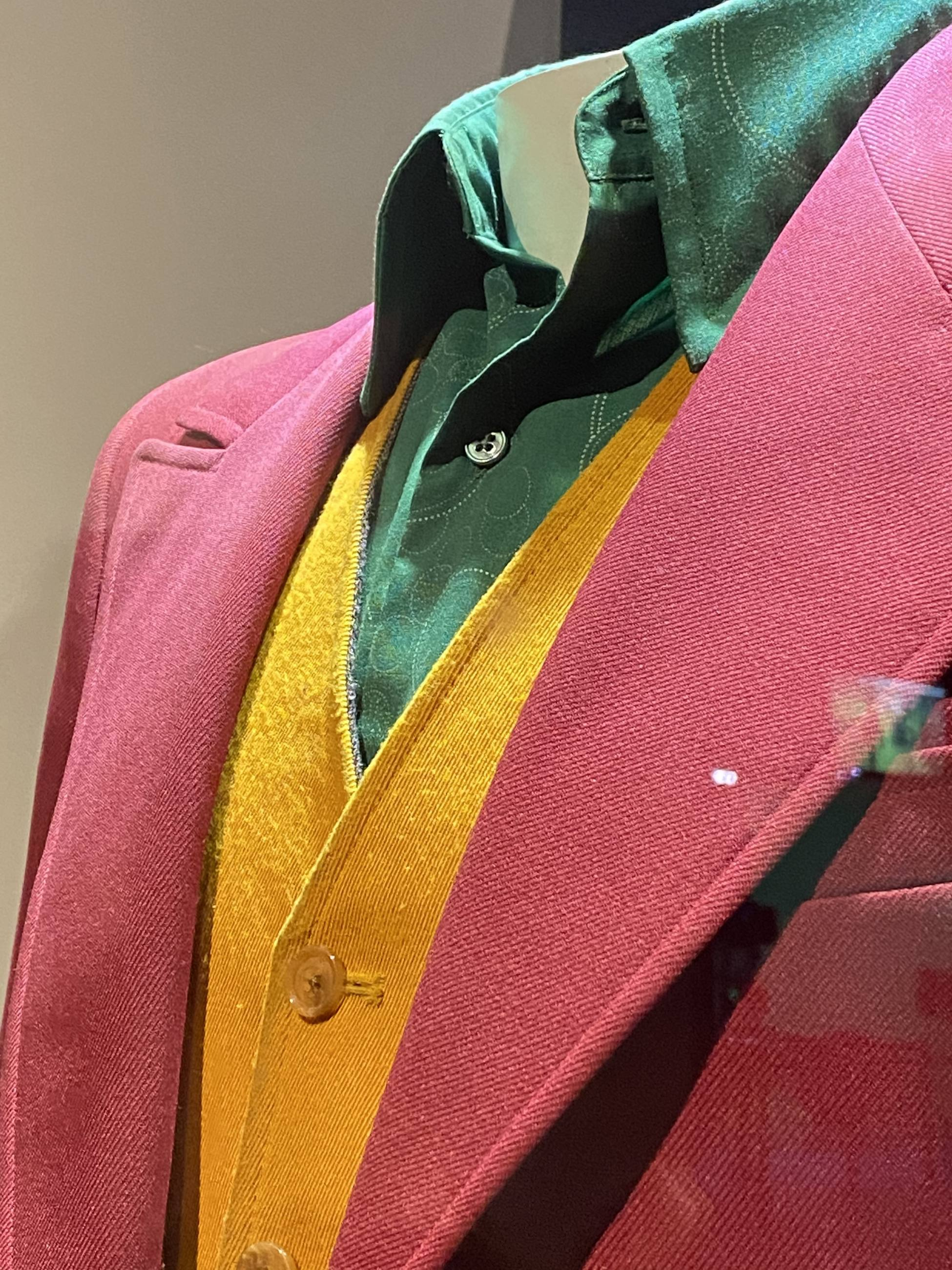 "Original ""Joker"" costume worn by Joaquin Phoenix on view at Warner Bros. Studio Tour Hollywood"