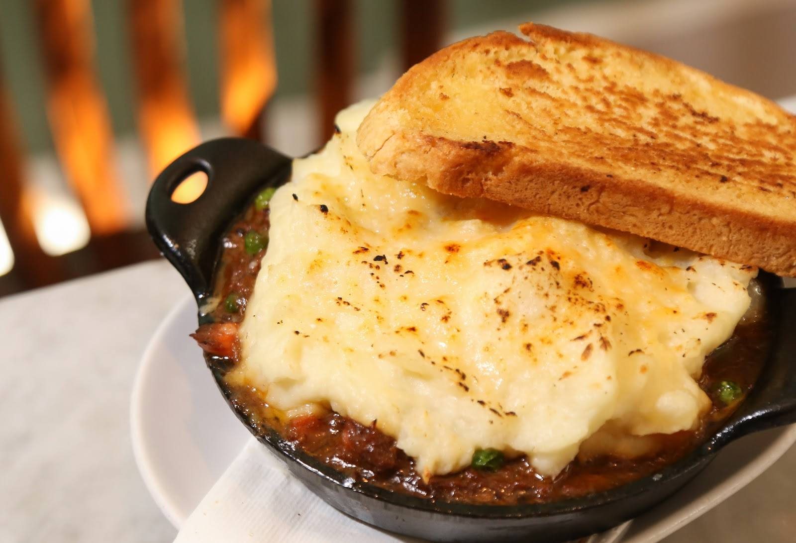 Shepherd's Pie at Big Bar on St. Patrick's Day