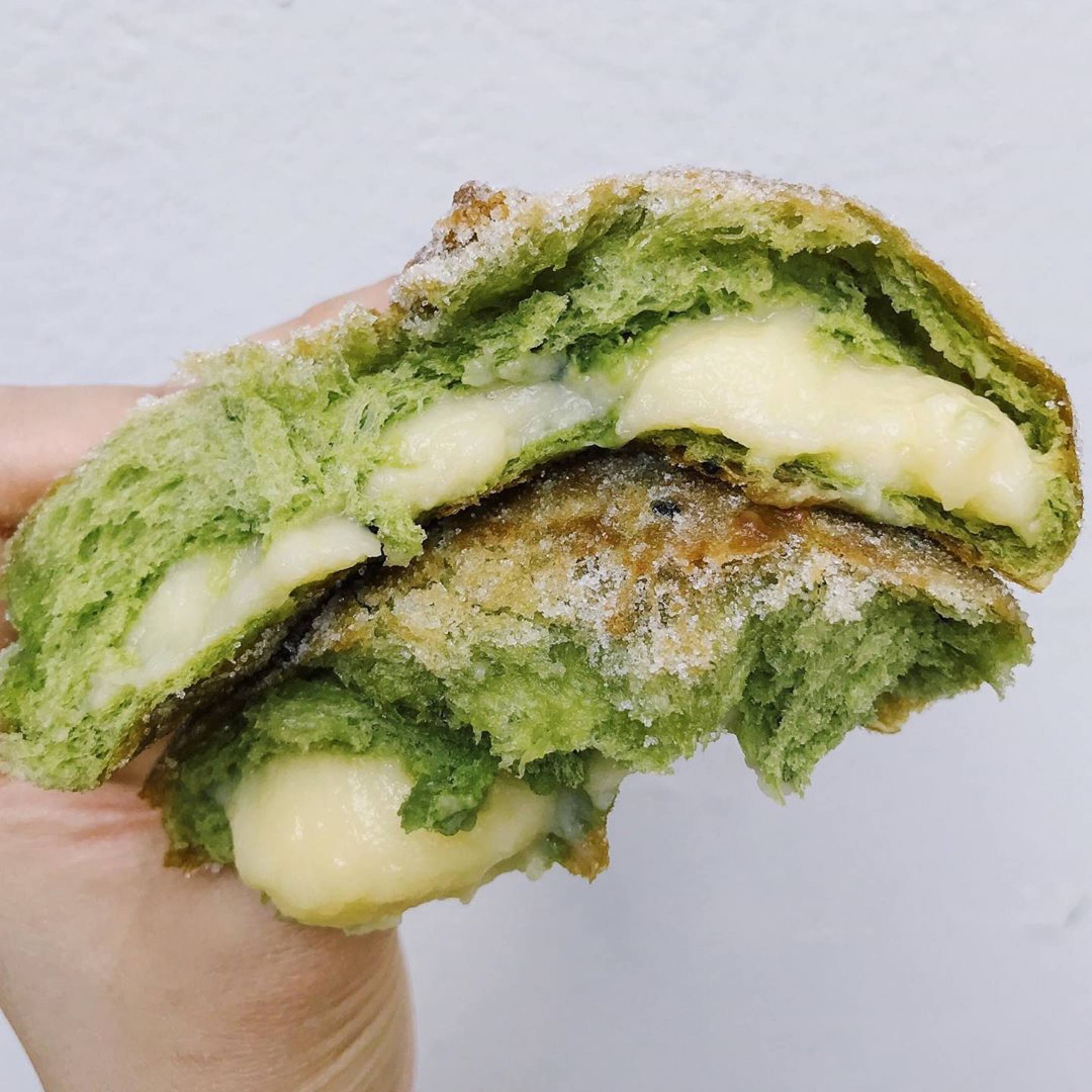 Matcha Donut at Cafe Dulce in Little Tokyo