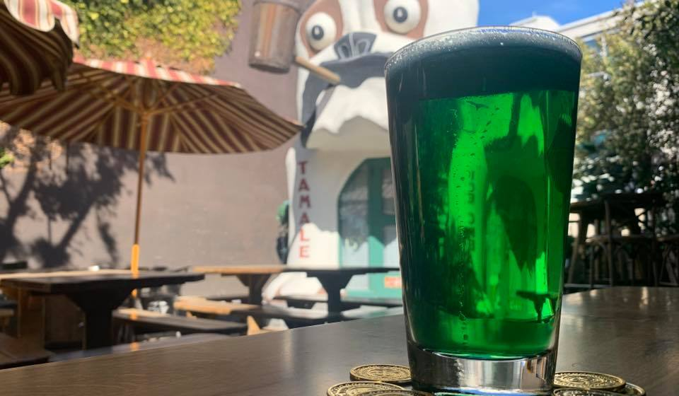 Green beer for St. Patrick's Day at Idle Hour in North Hollywood