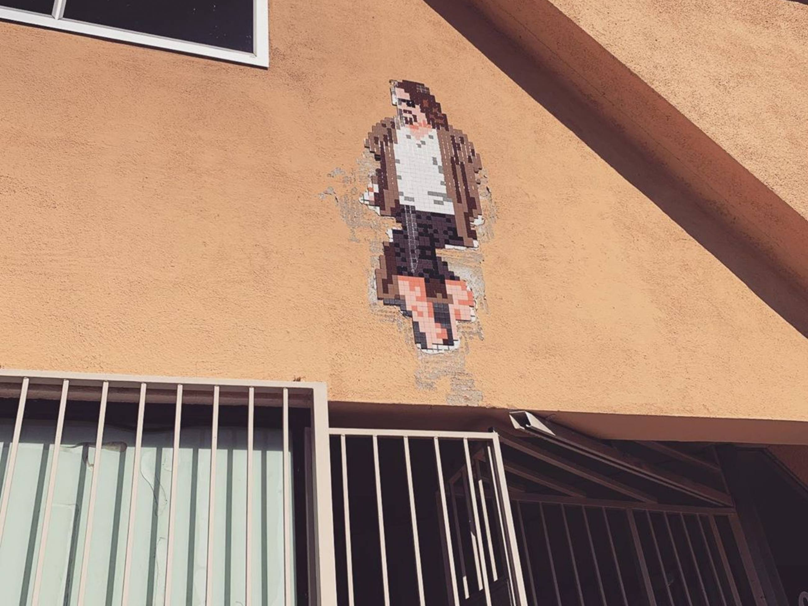 The Dude by Invader at Shatto 39 Lanes in Koreatown