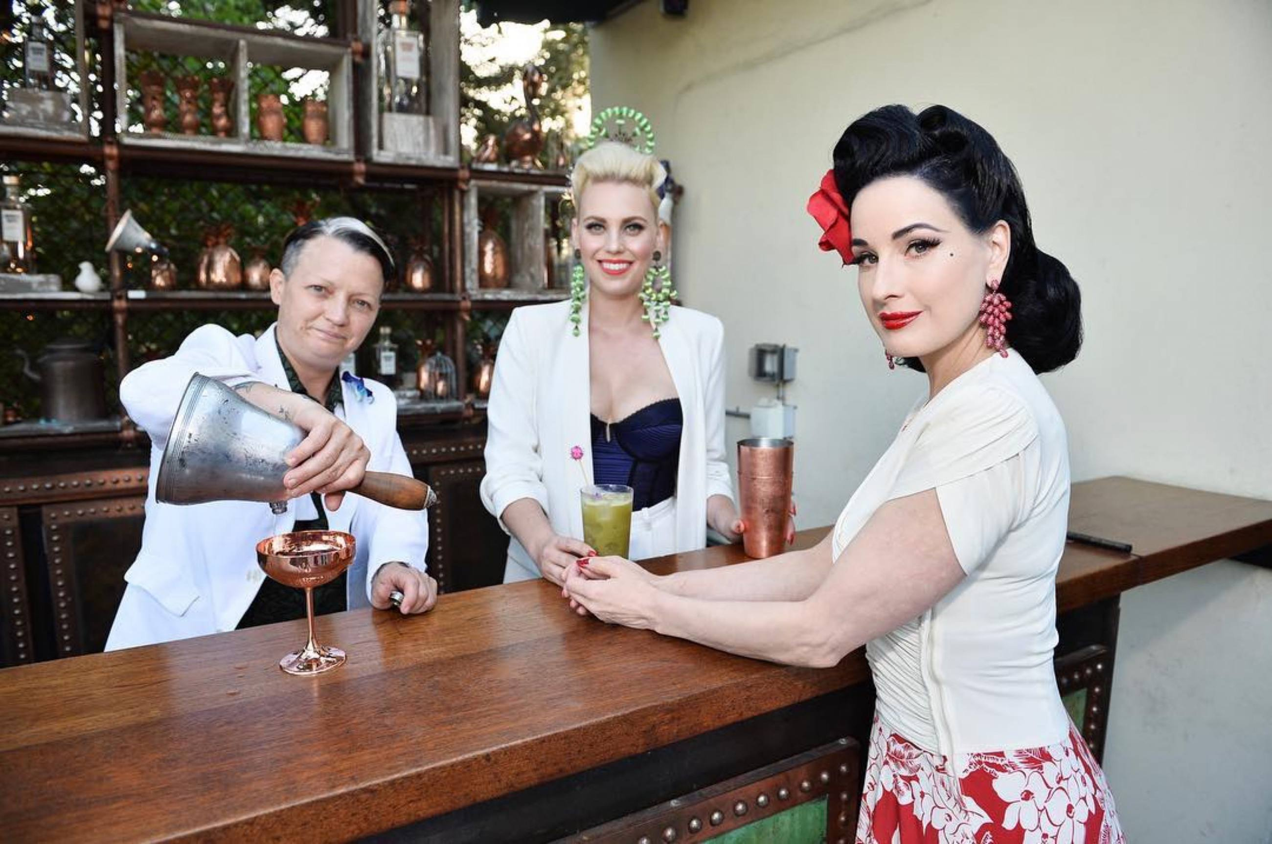 Dita Von Teese with Danielle Motor and Sabrina Minks of Sunset Boulevardier