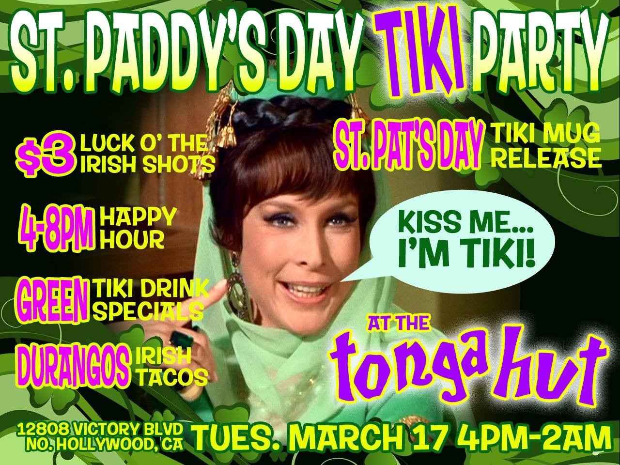 St. Paddy's Day Tiki Party at Tonga Hut
