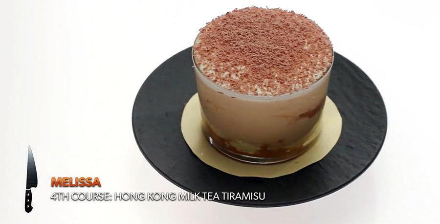"Hong Kong Milk Tea Tiramisu created by Melissa King for ""Top Chef: All-Stars LA"""