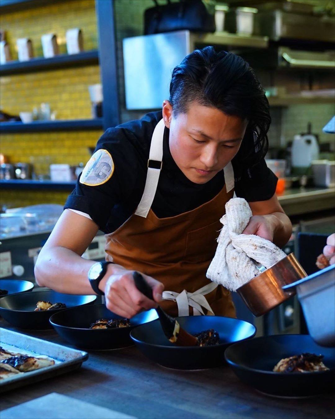 "Chef Melissa King in the kitchen at Otium from Episode 6 of ""Top Chef: All-Stars LA"""