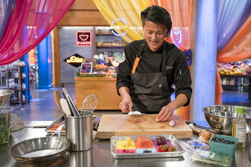 "Chef Melissa King prepares her Quickfire Challenge dish in Episode 4 of ""Top Chef: All-Stars LA"""