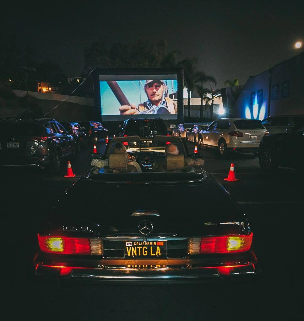 "Watching ""Jaws"" at the Late Night Drive-In on the Sunset Strip"