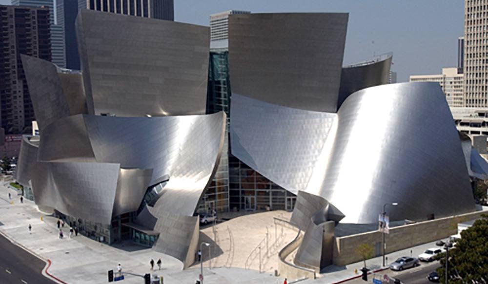 aerial view of unique venus los angeles - music center