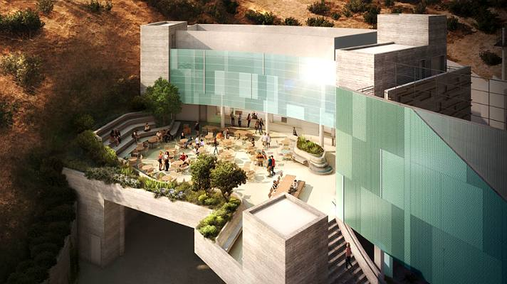 Ford Theatres terrace | Rendering courtesy of Levin & Associates Architects
