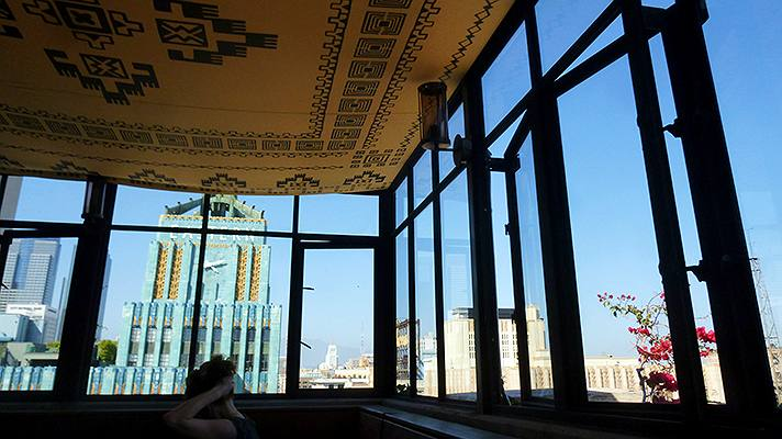 Eastern Columbia Building viewed from Upstairs at the Ace Hotel | Photo by Sandi Hemmerlein
