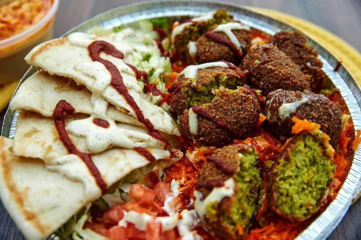 Falafel plate at Halal Guys
