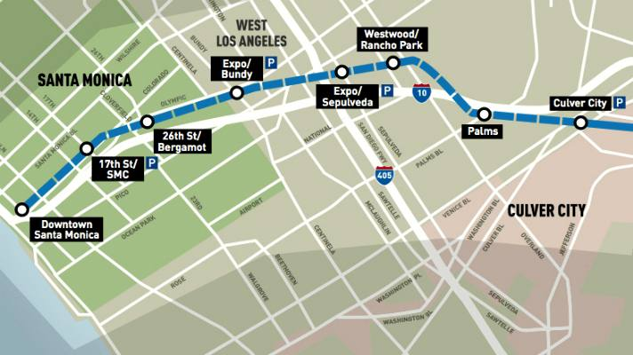 Santa Monica Subway Map.Top 10 Things To Know About The Metro Expo Line To Santa Monica