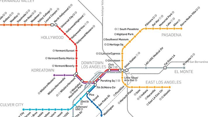 photo courtesy of Los Angeles Metro, click here to view larger map