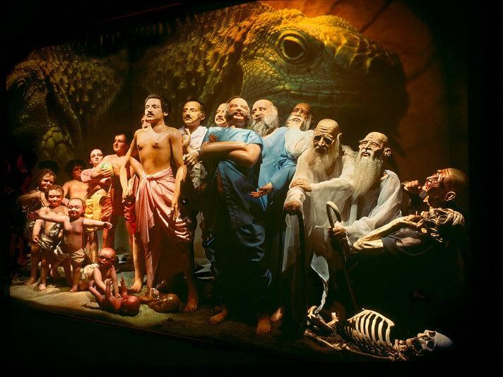 """Changing Bodies"" diorama | Photo courtesy of Bhagavad-gita Museum, Facebook"