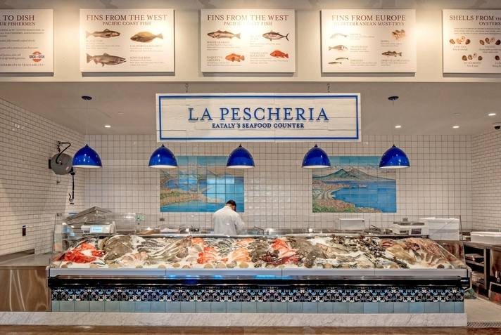 Seafood counter at Eataly Los Angeles | Photo courtesy of Westfield Century City, Facebook