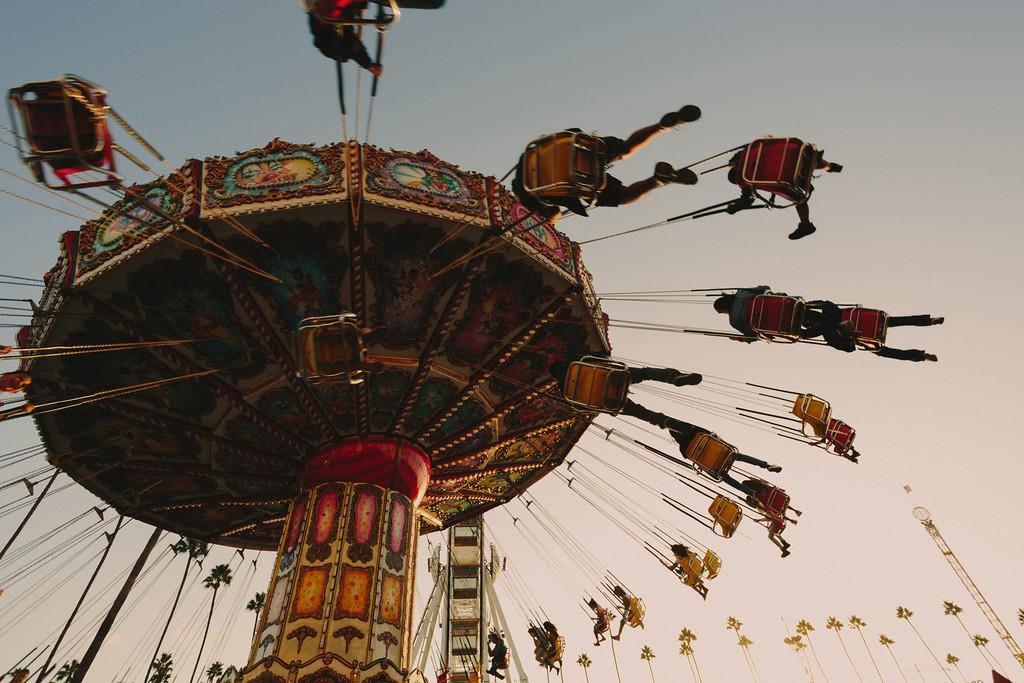 Swing ride at the LA County Fair