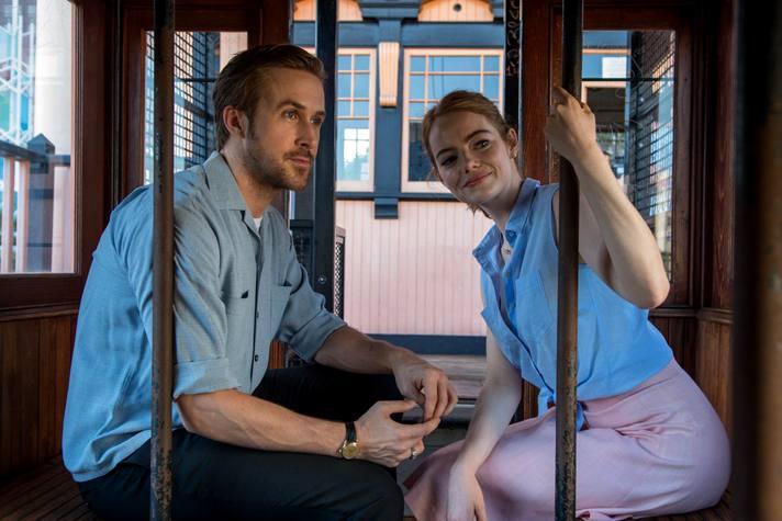 "Ryan Gosling and Emma Stone at Angels Flight in ""La La Land"" | Photo courtesy of Lionsgate"