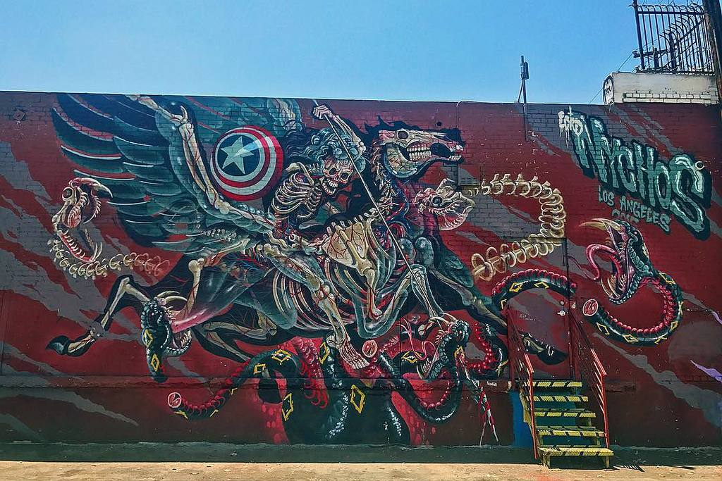 """""""Captain Hercules Fighting Hydra"""" by Nychos at The Container Yard 