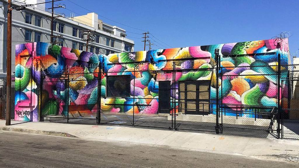 Mural by Ricky Watts at The Container Yard | Instagram by @impermanent_art