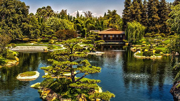 "Suiho En (""Garden of Water and Fragrance"") Japanese Garden in Van Nuys"
