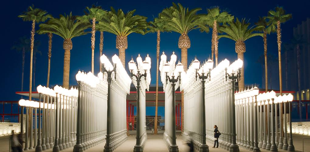 """Urban Light"" at LACMA"