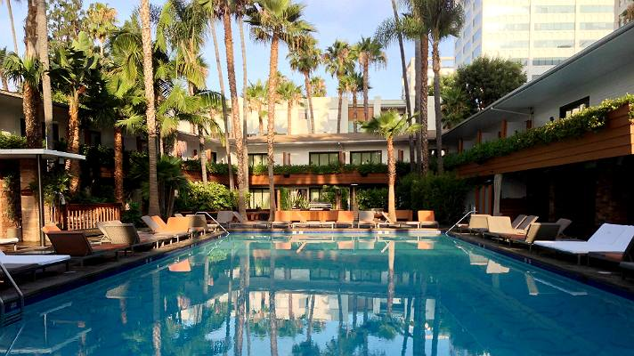 Tropicana Pool at the Hollywood Roosevelt