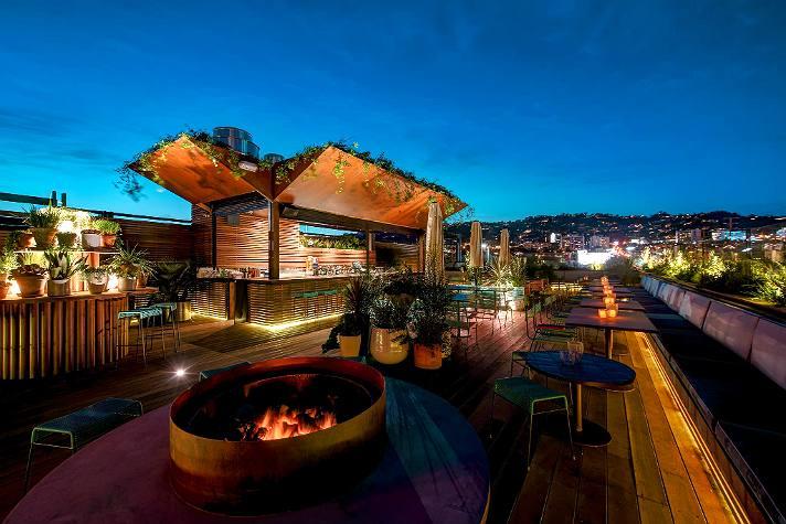 Rooftop bar at E.P.