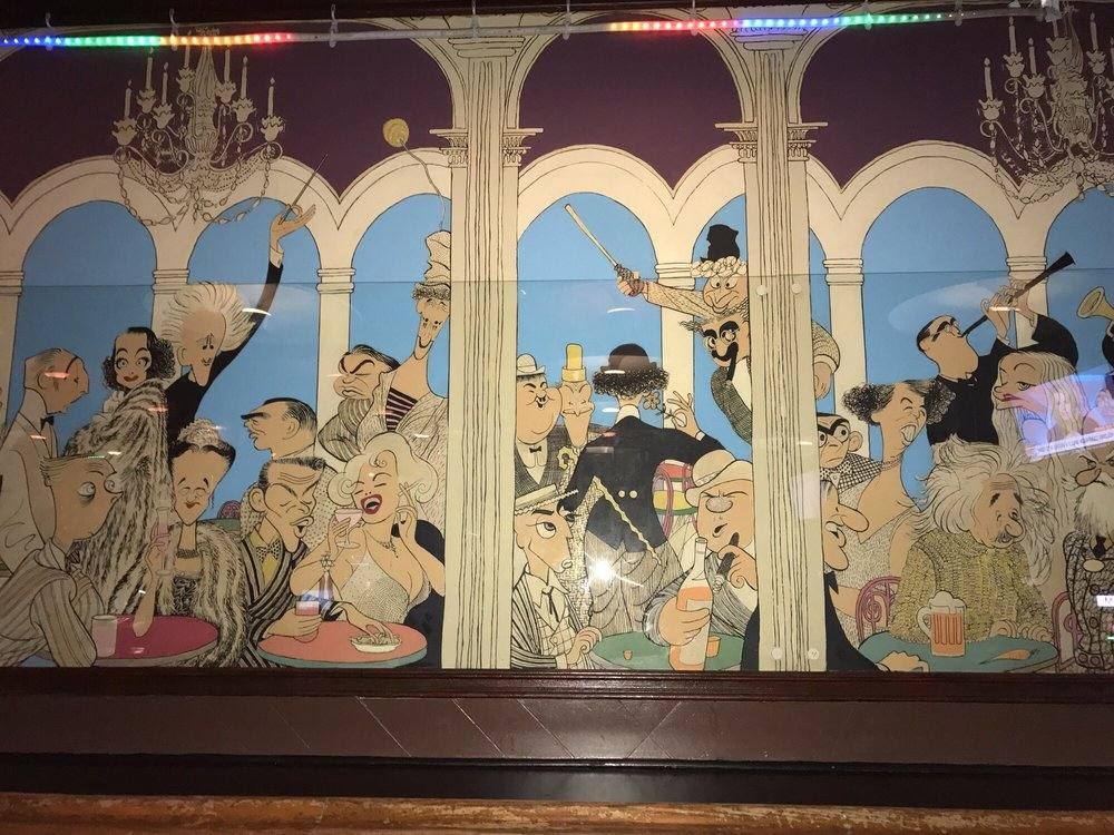 Al Hirschfeld mural at the Frolic Room | Photo by Craig W, Yelp