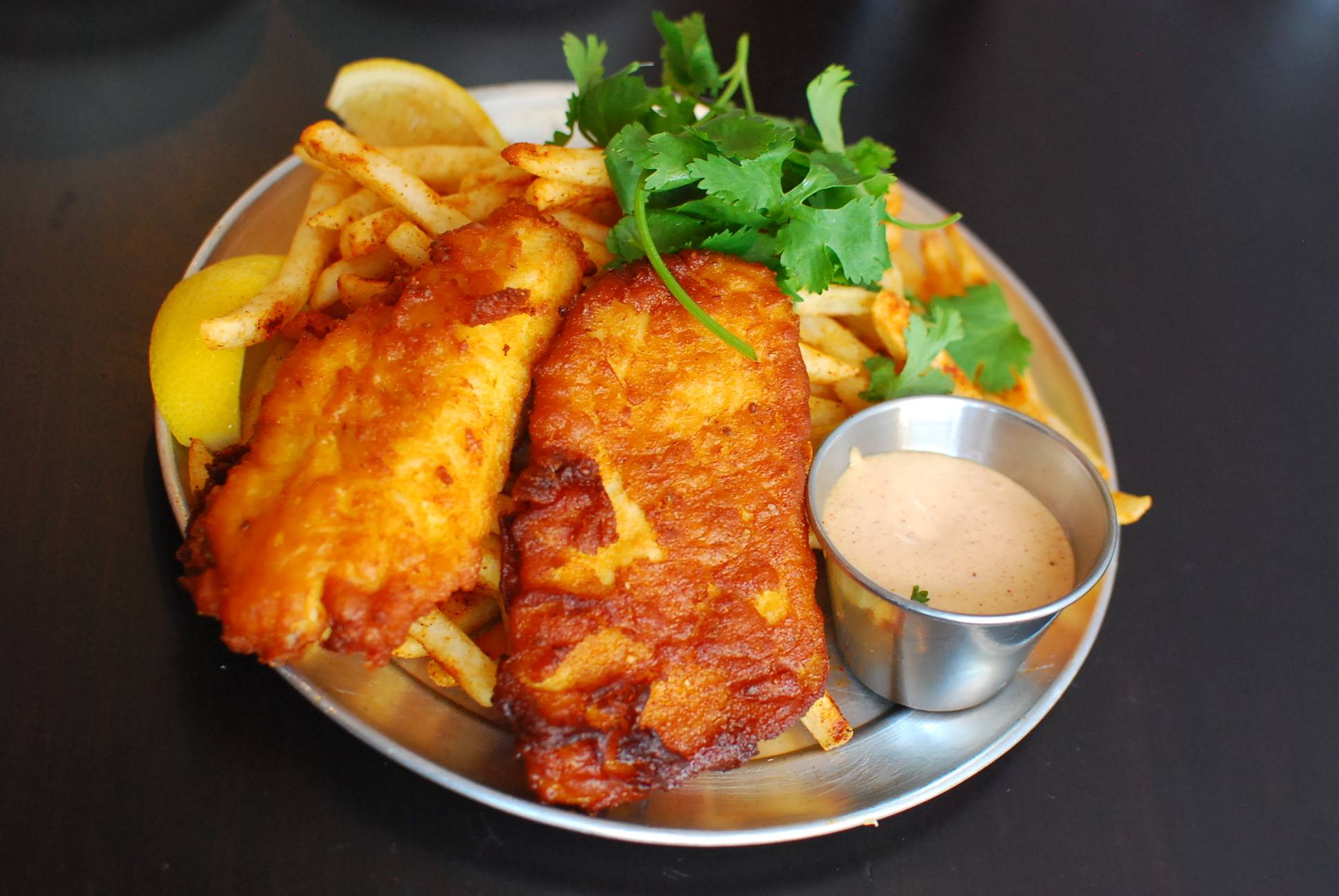 Punjabi fish and chips at Badmaash | Photo: Joshua Lurie