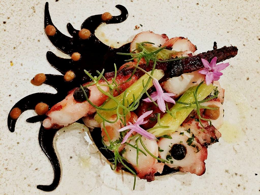 Grilled Spanish octopus at The Bazaar by José Andrés | Instagram by @kikimeng218