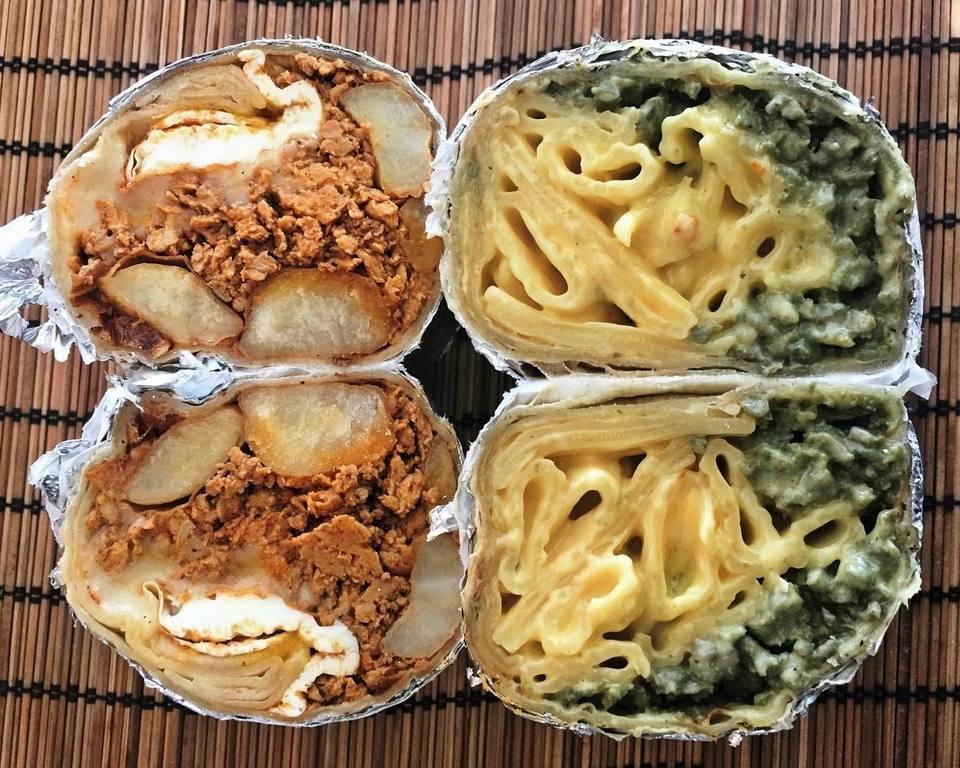 Breakfast Burrito and Chorizo Mac & Cheese Burrito at The Chori-Man | Instagram by @elbug10