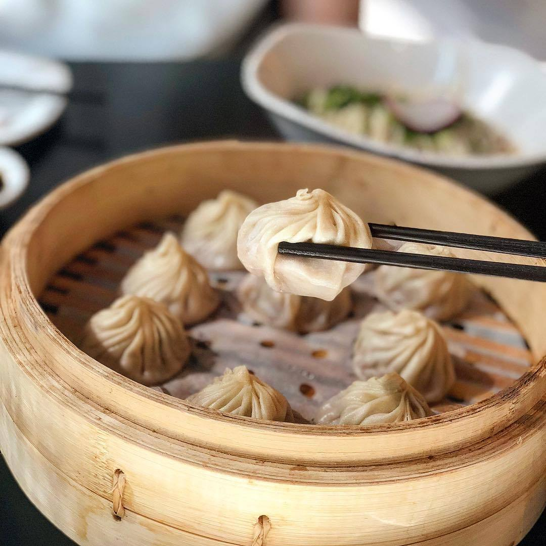 Pork & shrimp xiao long bao at Din Tai Fung Westfield Century City | Instagram by @_hungrybabe_