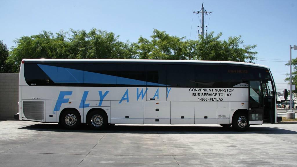 FlyAway bus to LAX | Photo: Van Nuys Airport, Facebook