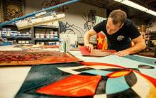 shepard_fairey_working_in_his_studio