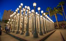 "Chris Burden ""Urban Light""(2008)  at LACMA   
