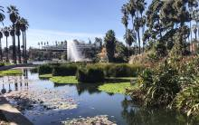 Echo Park Lake Fountain